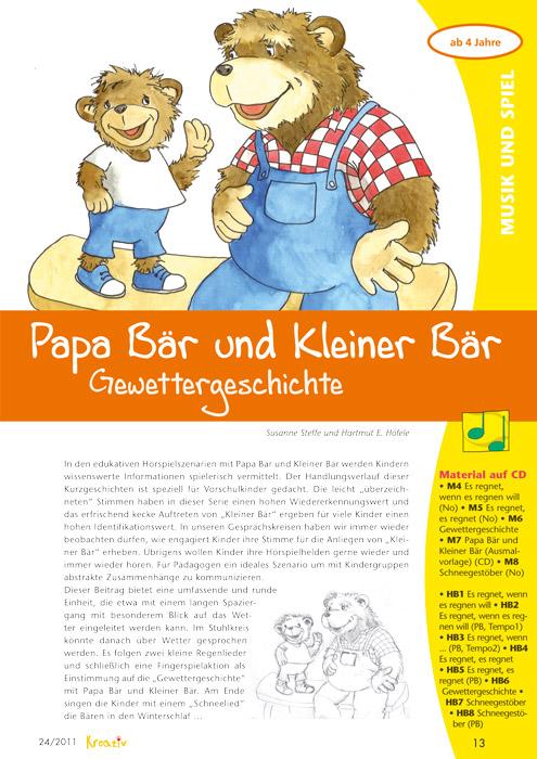 Wilde Wetter - Papa Bär und Kleiner Bär