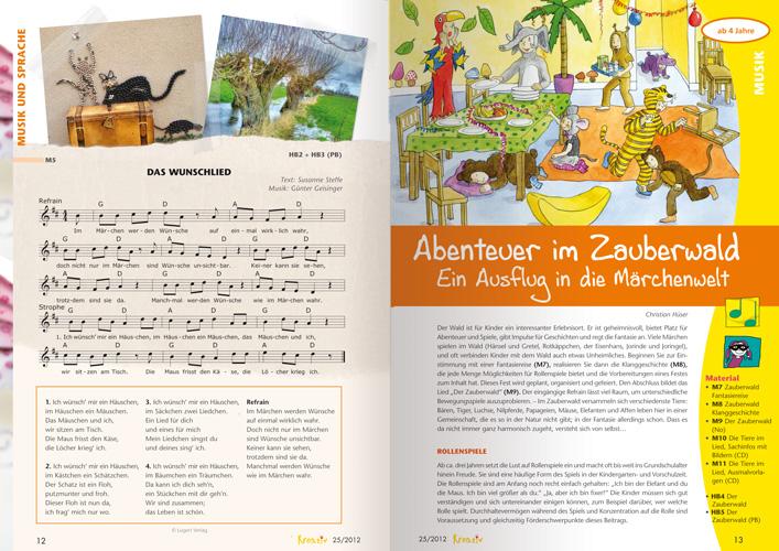 Märchen Erleben - Kreativ in Kiga und Vorschule 25 - Zauberwald - Christian Hüser