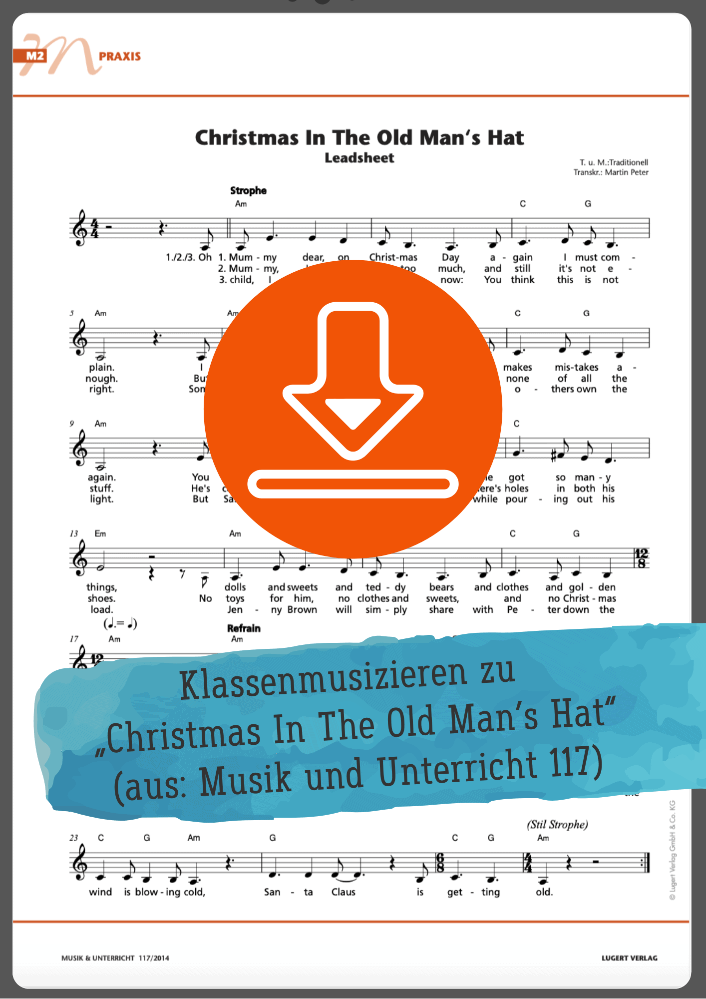 Christmas in the old man's hat Noten