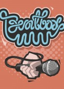 Beatbox Lettering. A Hand With  Mic. Microphone Vector Illustra