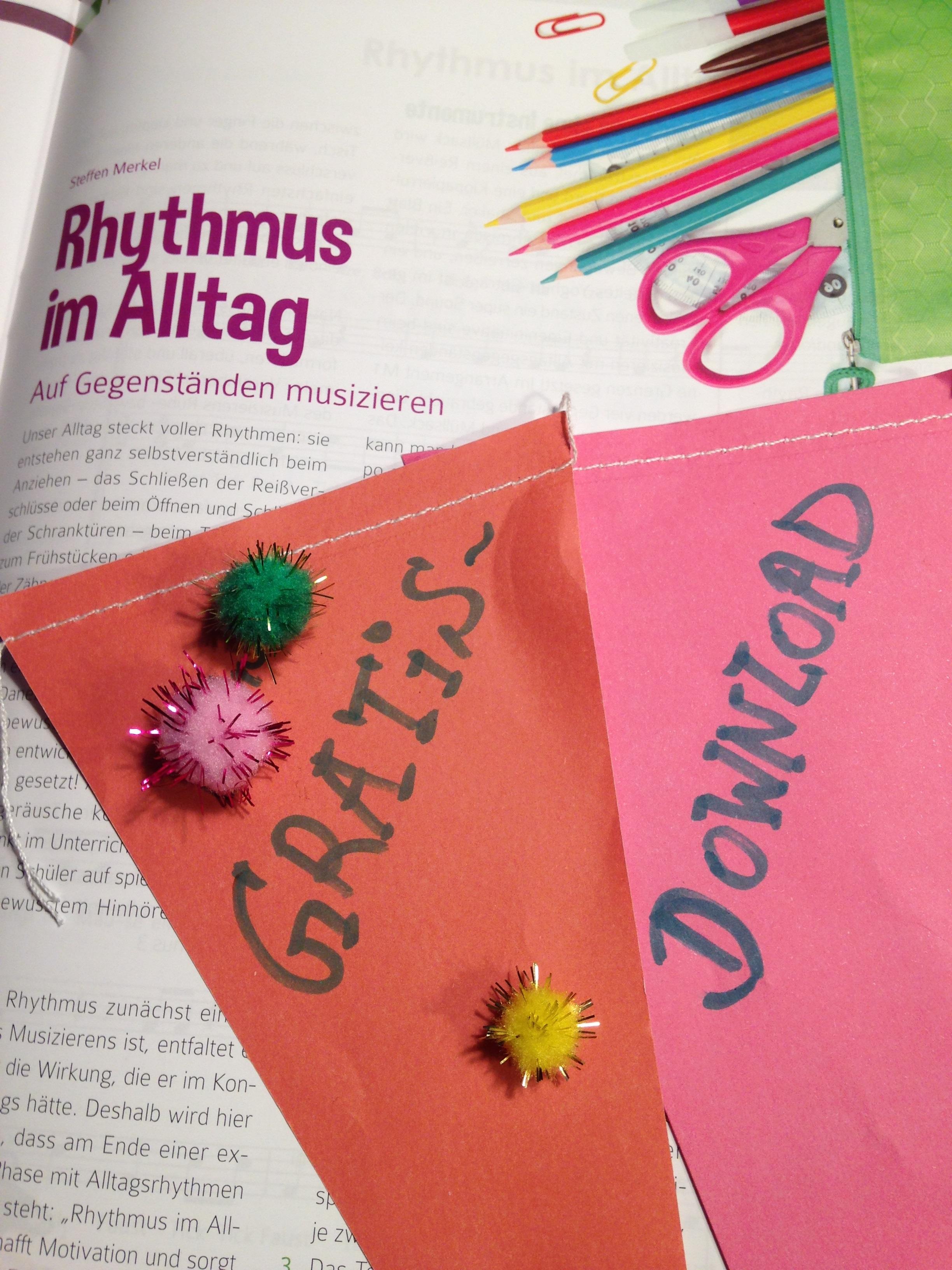 """Gratis-Download: Unterrichtseinheit """"Rhythmus im Alltag"""" - Lugert ..."""