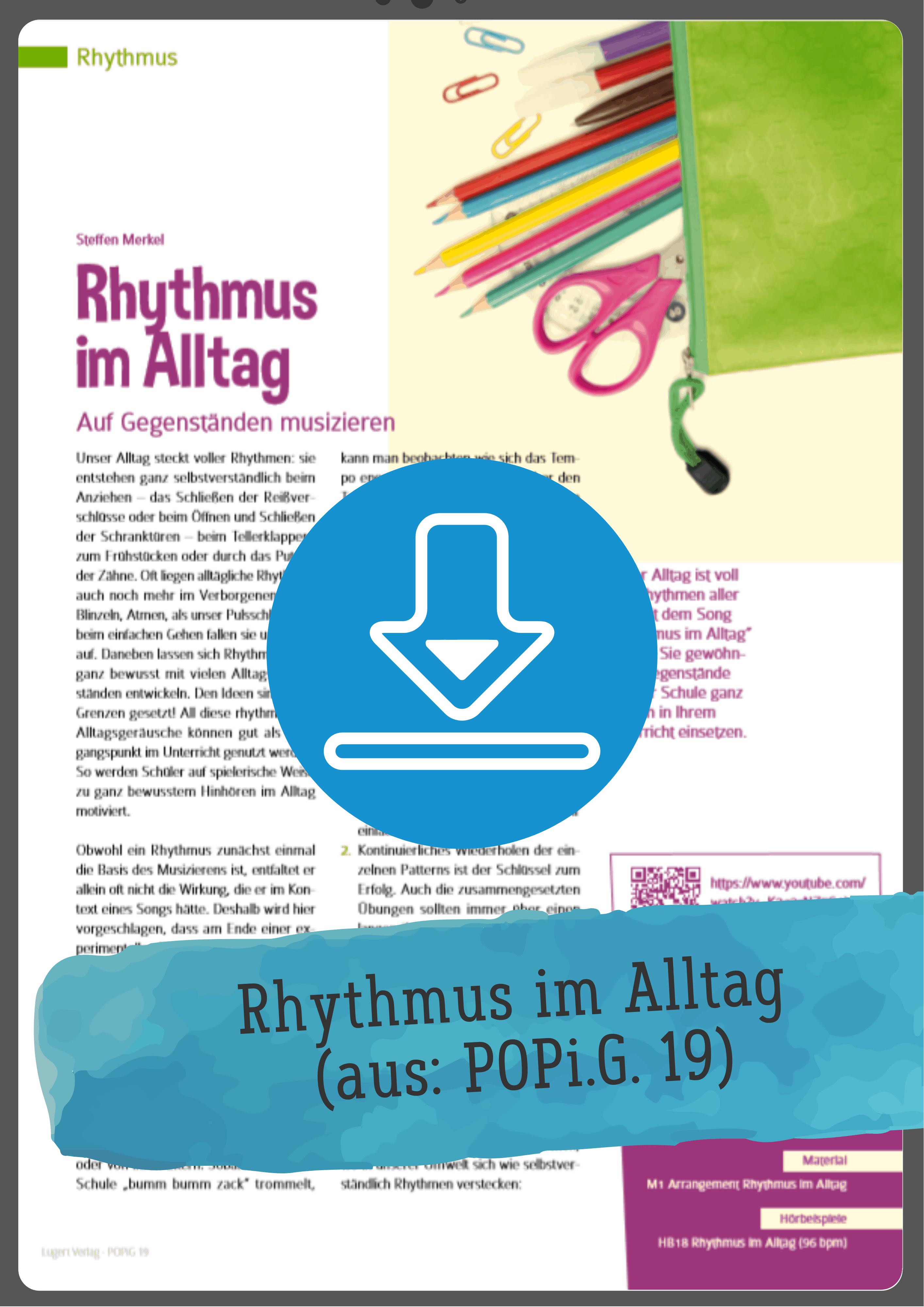 Rhythmus Spiele Unterrichtsmaterial