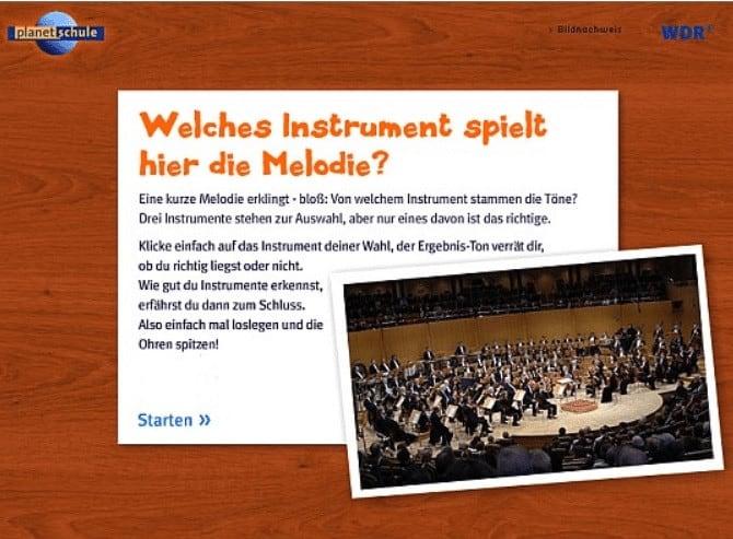 Planet Schule Instrumentenquiz