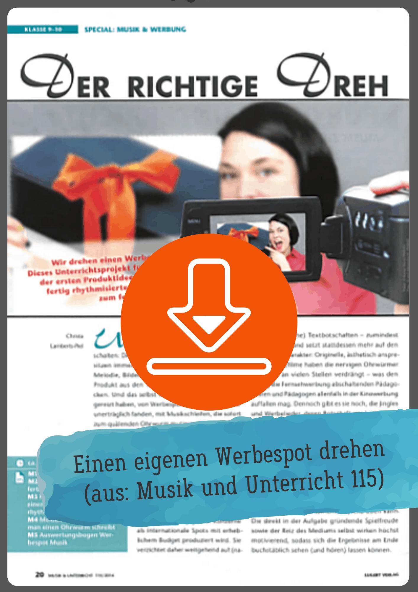 werbung unterrichtsmaterial gratis
